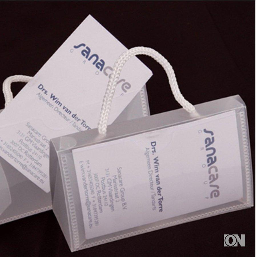 Mini Kunststofftragetasche Für Visitenkarten Visitenkarten