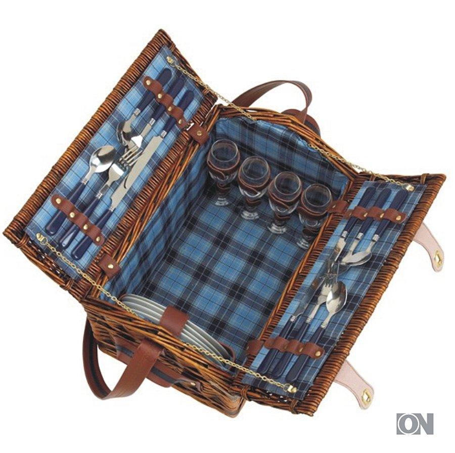 picknickkorb f r 4 personen geschenksets werbeartikel sets aktionen. Black Bedroom Furniture Sets. Home Design Ideas