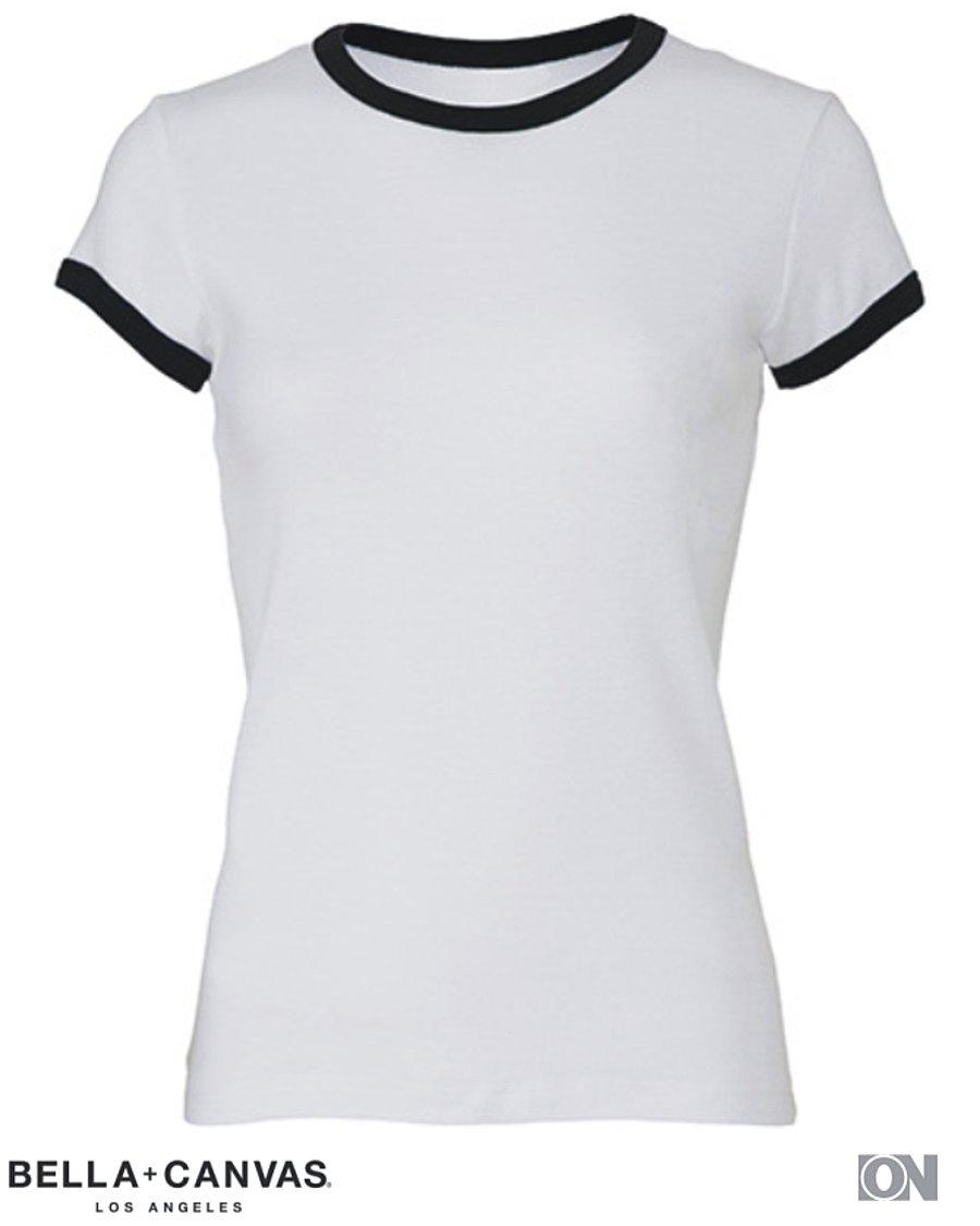 neuartiges Design klar in Sicht Sortendesign Damen Ringer T-Shirt, verschiedene Farben - Rundhals T-Shirt ...