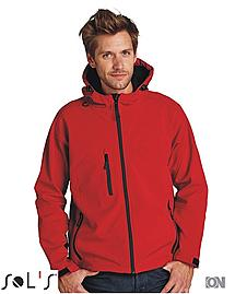 Herren Softshelljacke Hooded Replay