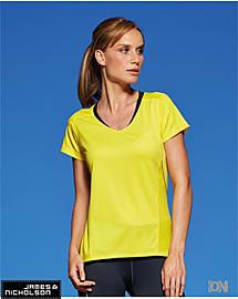 Damen Running Shirt mit V-Neck