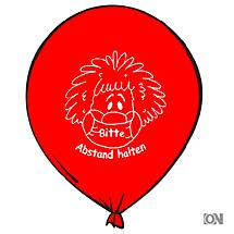 Luftballons in ROT