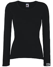 Ladies Langarm Shirt in schwarz