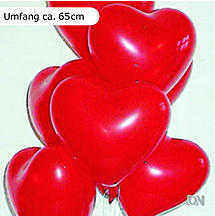 Luftballons in Herz-Form