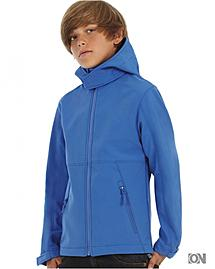 Kinder Softshelljacke B&C Hooded