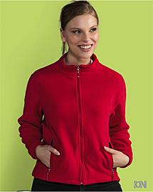 Damen Full Zip Fleecejacke