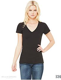 Damen Deep V-Neck T-Shirt