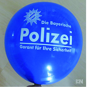 Polizei Luftballon in blau
