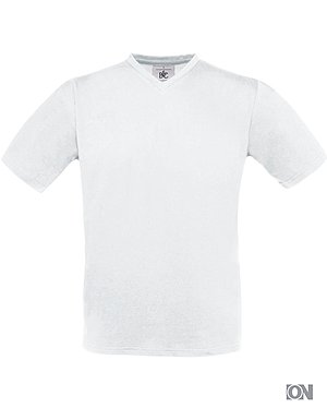 Herren V-Neck T-Shirt in weiß