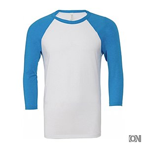 Herren 3/4 Baseball T-Shirt, in Neonfarben
